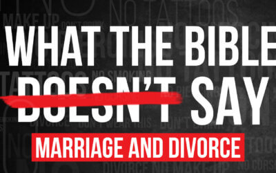 What the Bible Doesn't Say About Divorce